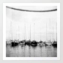 · Go sailing -Analogical Photography Black & White Art Print