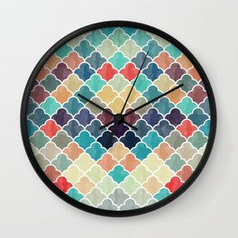 Watercolor Lovely Pattern VVXI Wall Clock