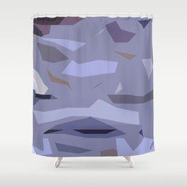 Fragmented Violet Shower Curtain