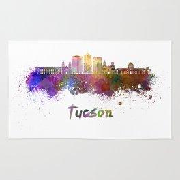 Tucson V2 skyline in watercolor Rug