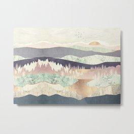 Golden Spring Reflection-Horizontal Muted Metal Print