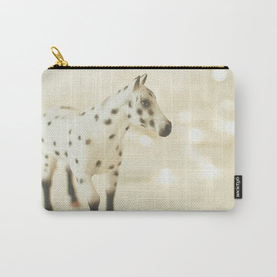 Horse in Winter Carry-All Pouch