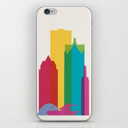 Shapes of Milwaukee. Accurate to scale iPhone Skin