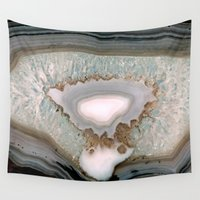 agate Wall Tapestries featuring Agate  by Katie A.M.