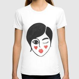wink kiss T-shirt