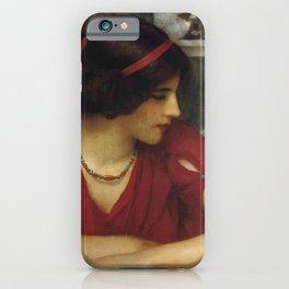 "John William Godward ""A classical maiden"" iPhone Case"