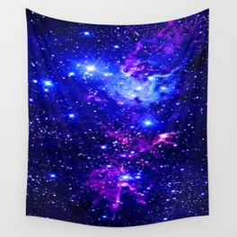 Fox Fur Nebula Galaxy blue purple Wall Tapestry