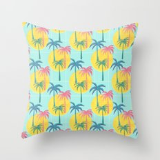 Retro Palms Throw Pillow