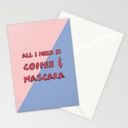Coffee And Mascara Stationery Cards