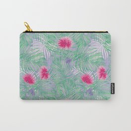 Calliandra Palms in Violet Carry-All Pouch