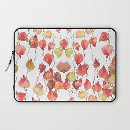 red yellow orange crimson leaf Laptop Sleeve
