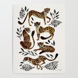 Cheetah Collection – Mocha & Black Palette Poster