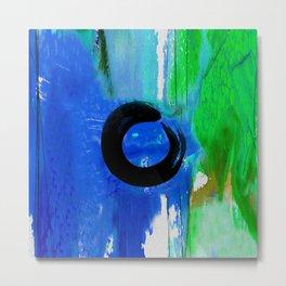 Enso Zen Circle No.6d by Kathy Morton Stanion Metal Print