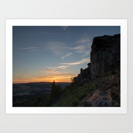 """Sunset edge."" Curbar Edge, Peak District, UK Art Print"