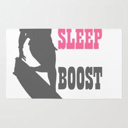 Eat Sleep Boost Repeat Kitebeach Pink and Grey Rug