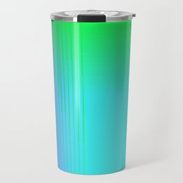 Cyan Green Purple Red Blue Black ombre rows and column texture Travel Mug