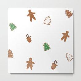 Festive cookie break Metal Print