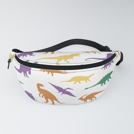 Wild dinosaurs silhouette pattern Fanny Pack