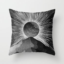 As a sun burst Throw Pillow