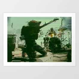 a place to bury strangers band Art Print