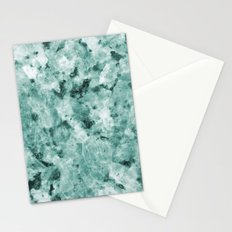 Real Marble Texture - Irish Green Sea Marble Stationery Cards