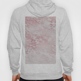 Rose Gold Blush Metal Veined Marble Hoody