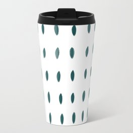 Paint Dabs in Teal Travel Mug