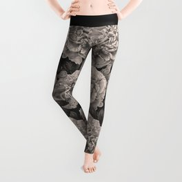 Flowers on a winter night Leggings