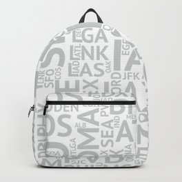 Grey Airport Codes Backpack
