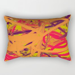 Orange Purple Green & Pink Abstract Rectangular Pillow