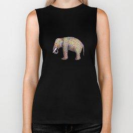 elephant color Biker Tank