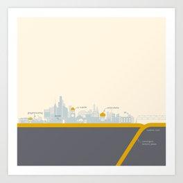 "City on a ""Plate"" Art Print"
