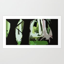 forest clearing Art Print