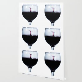 A Splash of Red Wine Wallpaper