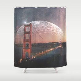Goldie at sunset Shower Curtain