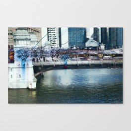 Light Bridge - Light Painting Canvas Print
