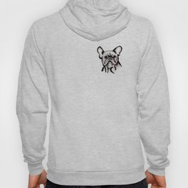 'The Grump' French Bulldog Line Art Face Hoody