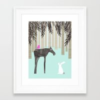 moose Framed Art Prints featuring Moose by Dream Of Forest