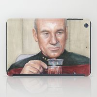 picard iPad Cases featuring Captain Picard Earl Grey Tea | Star Trek Painting by Olechka