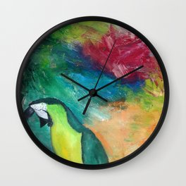 Out in the world Wall Clock
