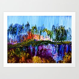 Siesta Lake Reflection Art Print