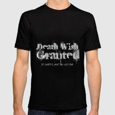 Death Wish Granted. Black MEDIUM Mens Fitted Tee