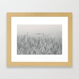 Miracles in December - Korean 12월의 기적 (EXO inspired) Framed Art Print
