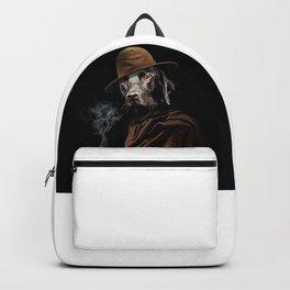 smoking dog,straydog Backpack