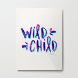 Wild Child – Magenta & Cyan Palette Metal Print