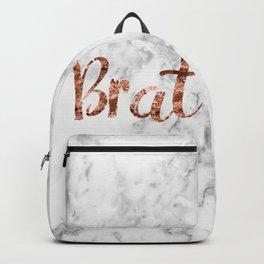 Rose gold marble - brat Backpack