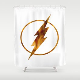 flash fire Shower Curtain