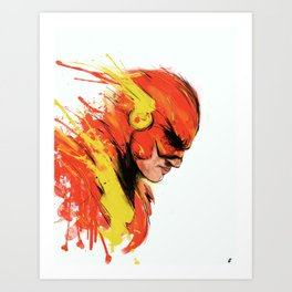 Fastest man  Art Print