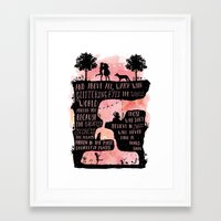 roald dahl Framed Art Prints featuring Roald Dahl Quote Glittering Eyes by Starry Bear