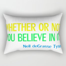 Neil deGrasse Tyson Popular Quote About Science Rectangular Pillow
